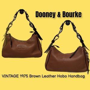 Vintage Dooney & Bourke 1975 Leather Hobo Handbag